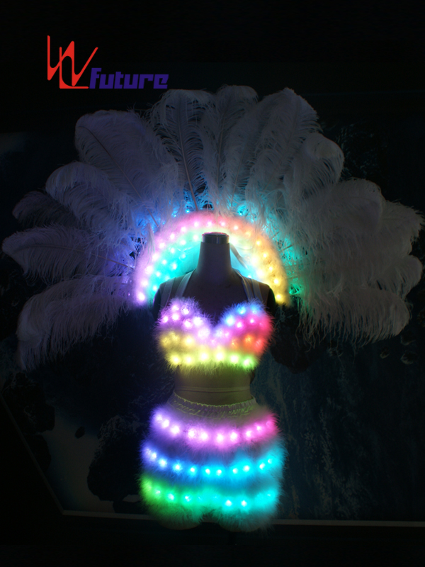 China Cheap price Luminous Costumes Control Software - CE Certificate Led Sexy Women Bra Costume For party Show – Future Creative