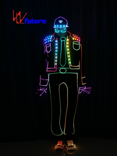 Light Balance Tron Dance Costume Wireless Control LED Light Up Clothing WL-0194
