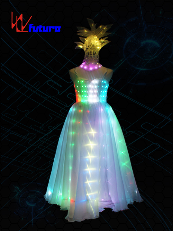 Good Wholesale Vendors Best Led Rave Costumes - Elegant Full Color LED Evening Dress Glowing Costumes For Women WL-0198 – Future Creative