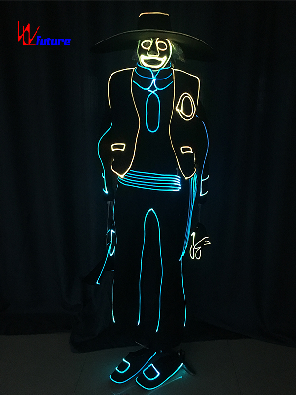 factory low price Stage Costumes Led - Glow in the dark suit costume for men WL-0199 – Future Creative