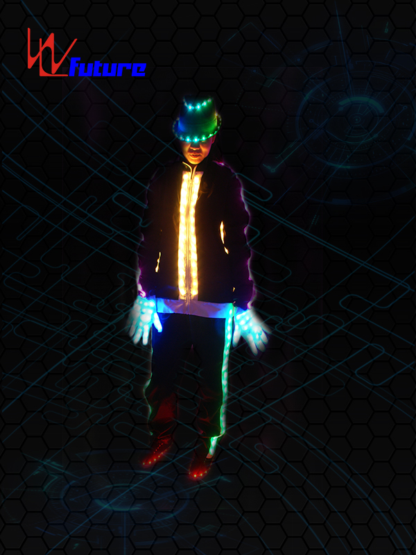 2019 High quality Blinking Led Jumpsuit - LED light up MJ jacket with hat,gloves,shoes WL-060 – Future Creative