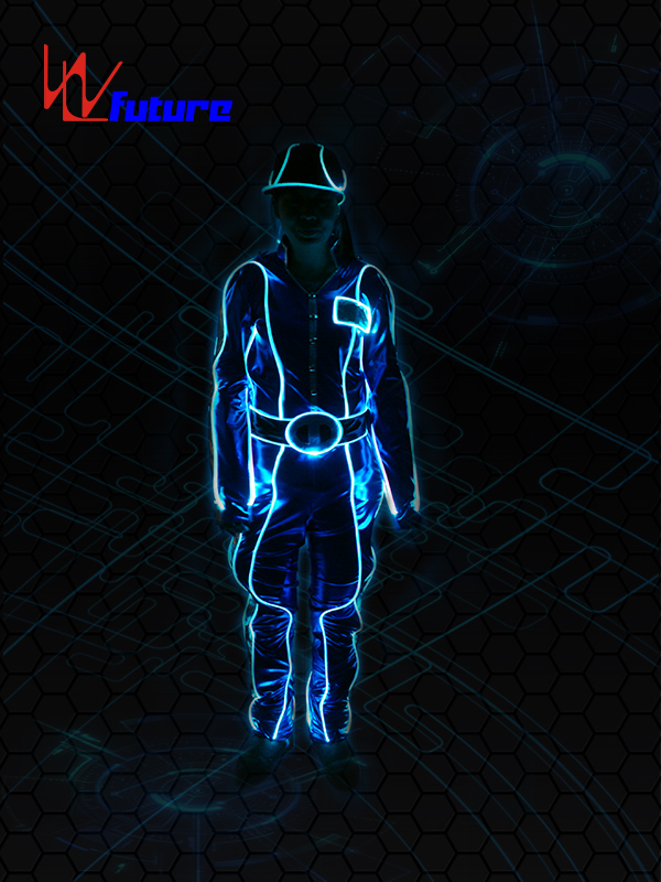 Cheap price Led Clothes - Safety Light up Fiber optic Costume with Hat WL-065 – Future Creative