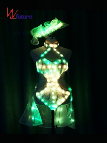 Custom Sexy LED Light Bikini Dance Costumes for Show WL-0213