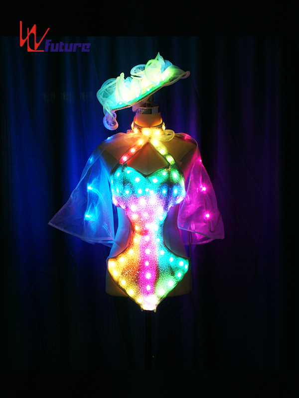 Chinese Professional Luminous Clothing - Custom Sexy LED Light Bikini Dance Costumes for Show WL-0213 – Future Creative