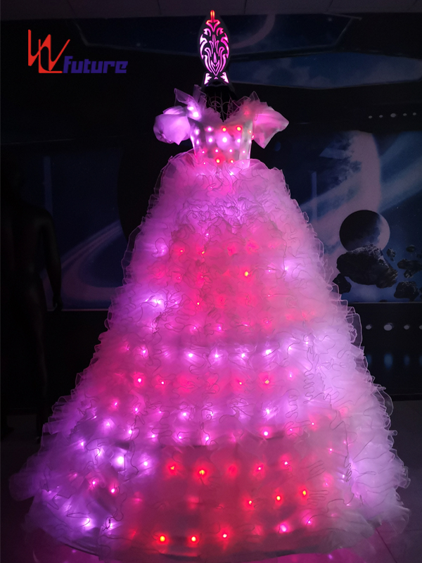 Future Neon Wedding Dresses LED Stitls Walker Costumes For Women WL-022 Featured Image
