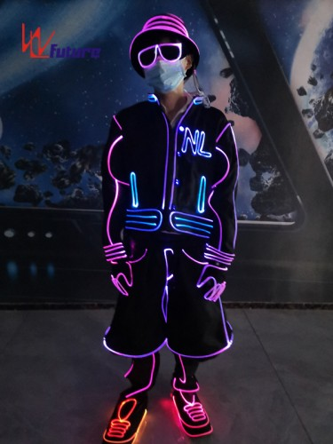 Glowing Sports Basketball Jacket Costumes,Neon Lights Suit WL-0253