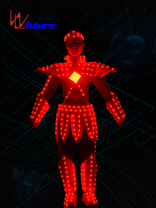Super Purchasing for Led Light Dance Wear - Wholesale Discount Costume Carnival Dancer Suits with Led Light Robot Led Performance EL Wire Costumes Party Favor Neon Rave Costume Party Supplies – Future Creative detail pictures
