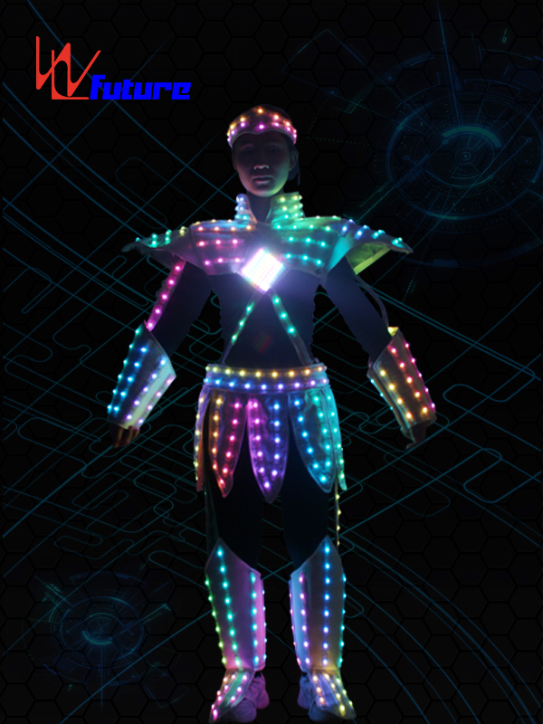 Super Purchasing for Led Light Dance Wear - Wholesale Discount Costume Carnival Dancer Suits with Led Light Robot Led Performance EL Wire Costumes Party Favor Neon Rave Costume Party Supplies – Future Creative Featured Image