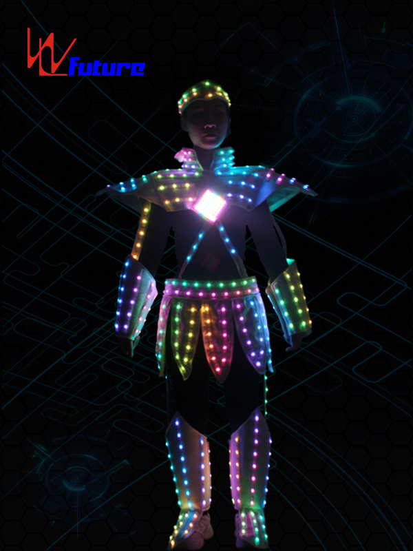 Super Purchasing for Led Light Dance Wear - Wholesale Discount Costume Carnival Dancer Suits with Led Light Robot Led Performance EL Wire Costumes Party Favor Neon Rave Costume Party Supplies – Future Creative