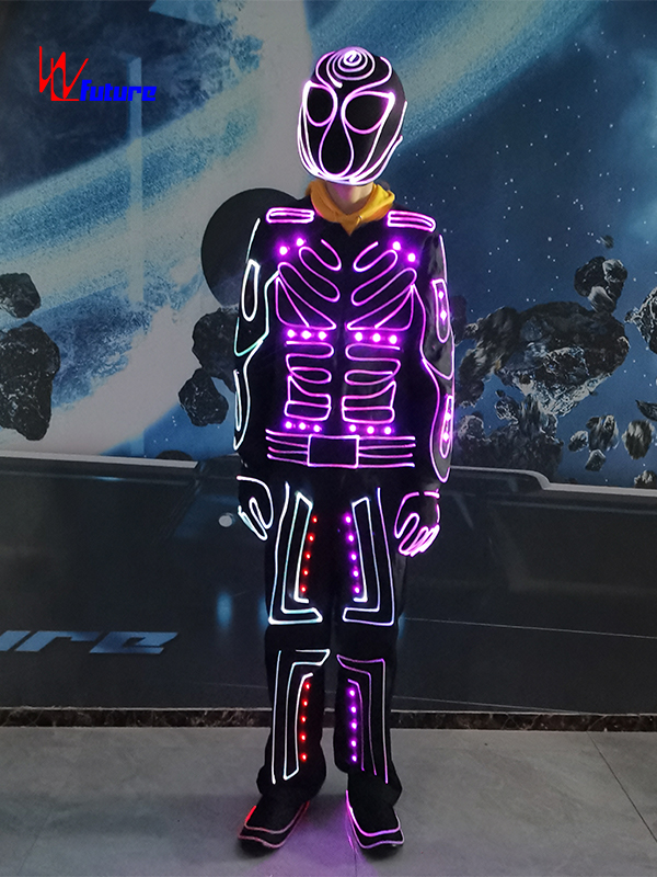 433 Wireless controlled LED & fiber optic tron dance suit costume WL-0263 Featured Image