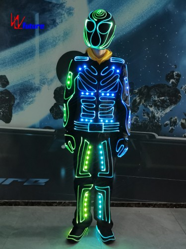 433 Wireless controlled LED & fiber optic tron dance suit costume WL-0263