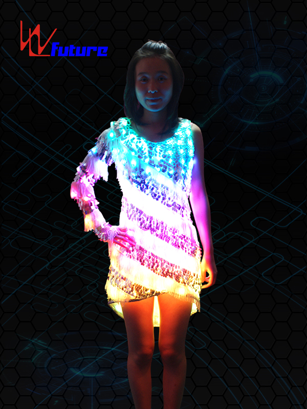 China Factory for Programmable Led Strip - Sexy LED T-shirt,Light up Skirt WL-089 – Future Creative Featured Image