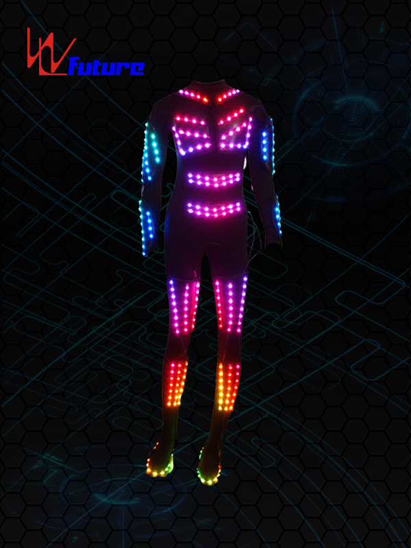 Best Price on Led Clothes Light - Professional China Led Dance Wear Luminous Clothes Colorful Lighting Costume Washable Led Flash Vest – Future Creative