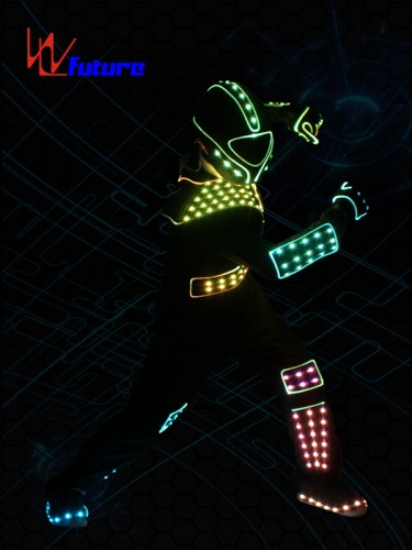 Programable LED Luminous Jumpsuit Costume With Helmet WL-0176