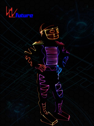 Color changed Fiber Optic Jumpsuit with Helmet WL-0103