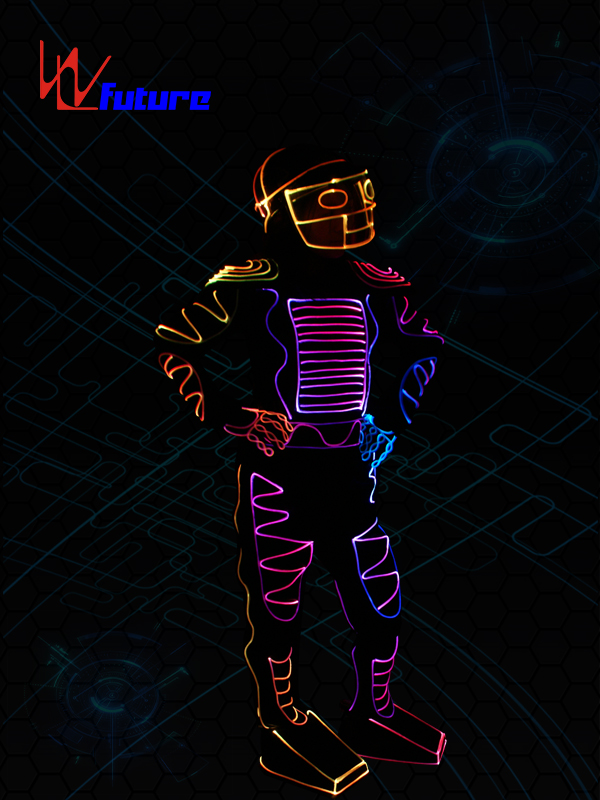 OEM Manufacturer Led Robot Costume Diy - Color changed Fiber Optic Jumpsuit with Helmet WL-0103 – Future Creative