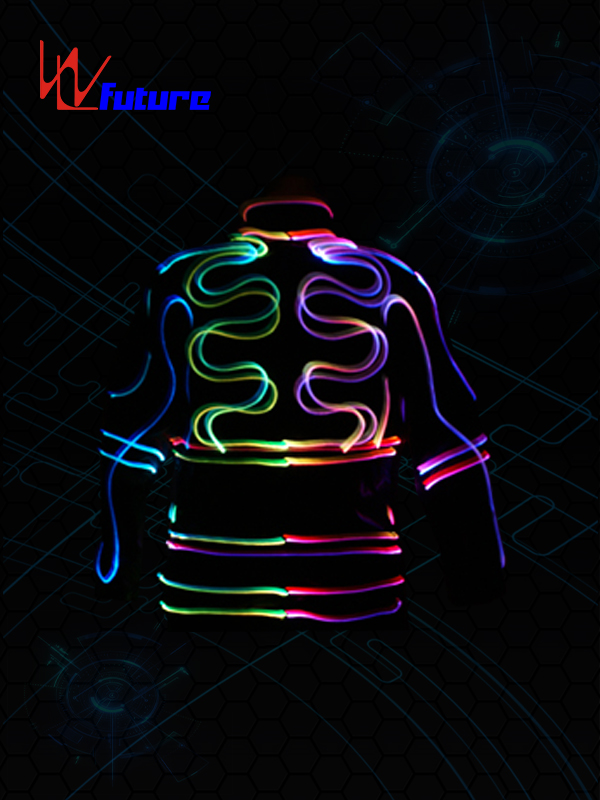 High definition Led Clothing - 433 Wireless Control Fiber Optic Costumes WL-091 – Future Creative detail pictures