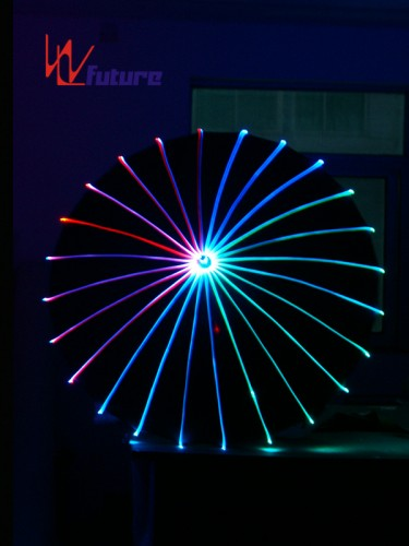 Glow in the dark fiber optic umbrella for dance show WL-047