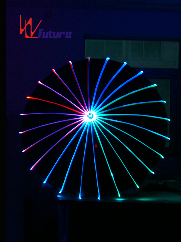 New Arrival China Cool Led Robot - Glow in the dark fiber optic umbrella for dance show WL-047 – Future Creative