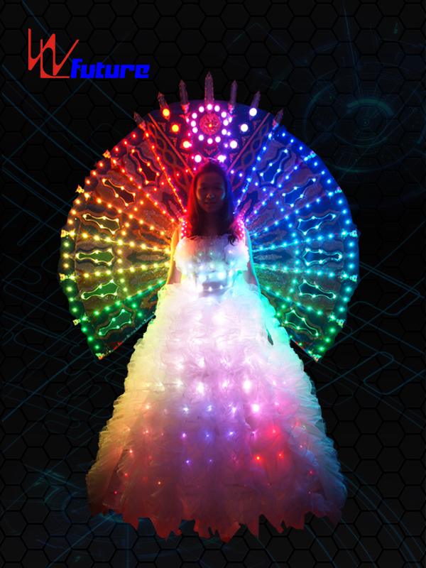 One of Hottest for Costume Led Lights - White LED Wedding Dress In Performance Wear WL-018 – Future Creative