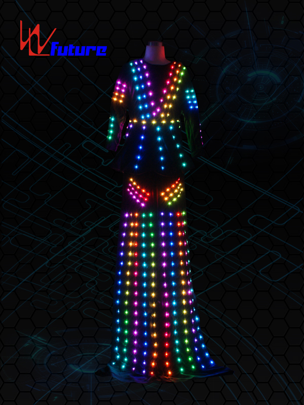 China Cheap price Luminous Costumes Control Software - New Style LED stilts walker costume  for women WL-0210 – Future Creative