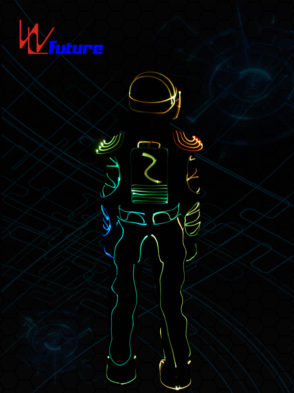 China Cheap price Wearable Led Clothing - Color changed Fiber Optic Jumpsuit with Helmet WL-0103 – Future Creative