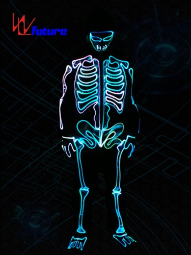 LED Light Up Halloween Suit Glowing Skeleton Costume For Party WL-0146