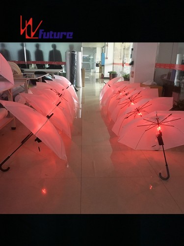 Beautiful Rainbow LED light up umbrella for stage dance show WL-084