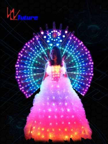 White LED Wedding Dress In Performance Wear WL-018