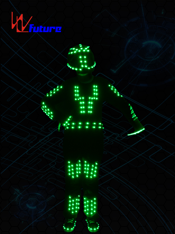 Professional Design Flashing Led Lights For Costumes - LED Robot Jumpsuit with Helmet WL-0158 – Future Creative