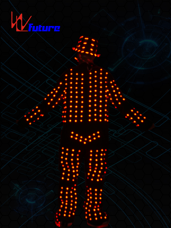 High PerformanceSuit Dance Costume - Dance stage wear LED costumes with helmet,glasses,shoes WL-0106 – Future Creative detail pictures
