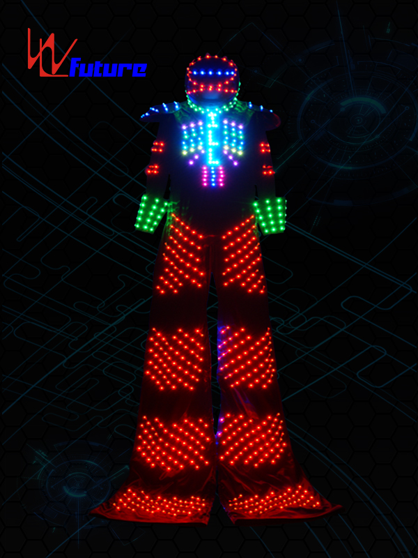 2017 Latest DesignBattery Powered Led Umbrella Lights - Disco Stilts Walker Led Robot Outfit for Men WL-0109 – Future Creative Featured Image