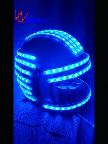 Hight quality LED light up helmet for stage dance show WL-0137