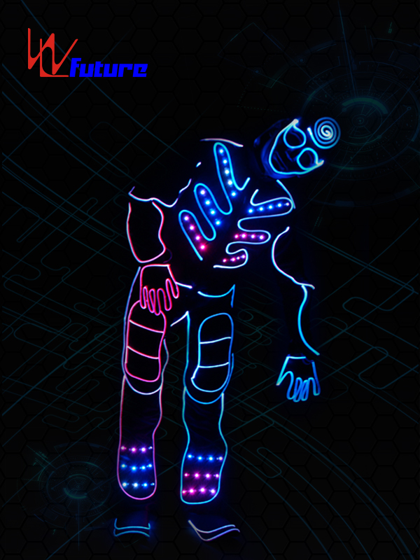 Factory Outlets Battery Powered Led Light Strips Costumes - Tron dance costumes,led halloween costumes for men WL-0149 – Future Creative