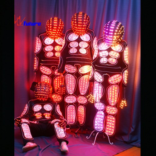 Programable LED Tron Dance Costume Glowing Robot Suit For Show WL-0152