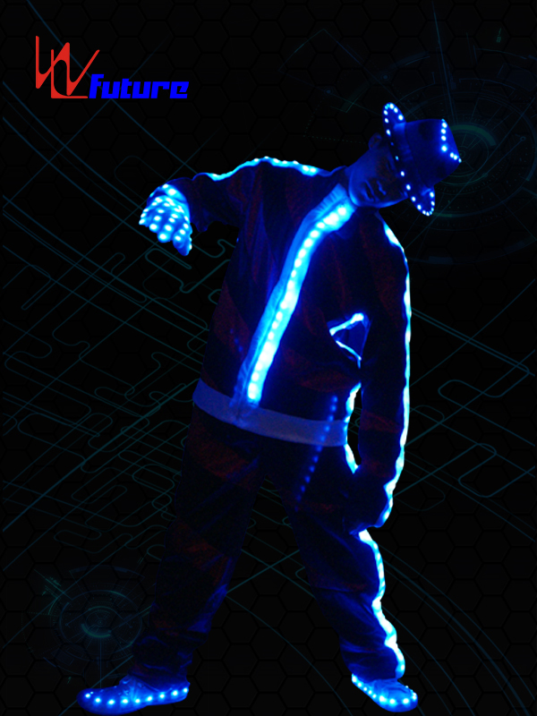 Cheap price Light Up Clothing - Best Price for European Night Club Ds Hip Hop Jazz Dance Costume,MJ Led Tron Dance Costume – Future Creative
