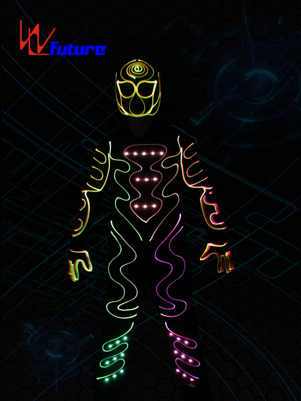 LED & Fiber Optic Tron Dance Costumes With Mask WL-0178 Featured Image
