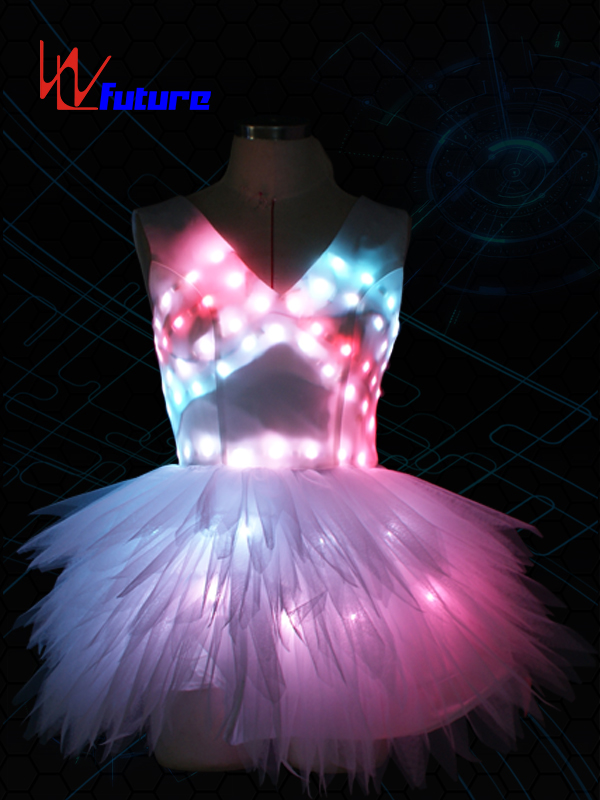 RGB White LED Dress Costumes,Sexy LED Skirt For Performing WL-0182 Featured Image