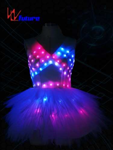 RGB White LED Dress Costumes,Sexy LED Skirt For Performing WL-0182