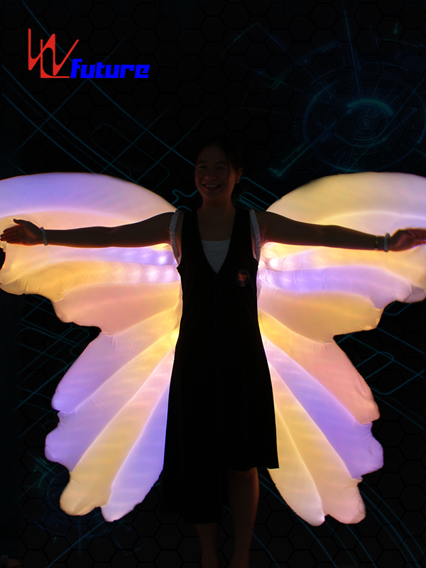 Good User Reputation for Led Gloves Lights - Rainbow LED Inflatable butterfly wings of dance props WL-0185 – Future Creative