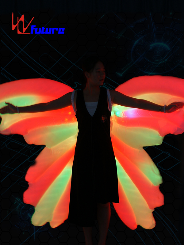 Good User Reputation for Led Gloves Lights - Rainbow LED Inflatable butterfly wings of dance props WL-0185 – Future Creative detail pictures