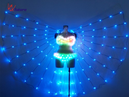 Sexy LED light up bra and panty with LED Wings for Dance Performance WL-0186