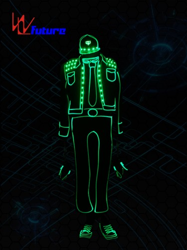 Excellent quality China LED Light up Suit Glow In The Dark Dresses Lightbalance