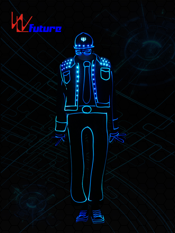 New Fashion Design for Led Light Up Skirt - Light balance tron dance costume,wireless control LED light up clothing WL-0194 – Future Creative