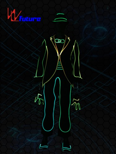 Fiber Optice Costumes with Hat and Gloves,MJ LED Suit WL-0224