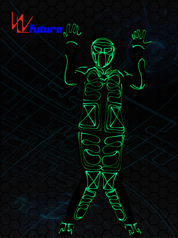 Fiber Optic Tron Dance Costumes,Glow In The Dark Clothing WL-0234 Featured Image