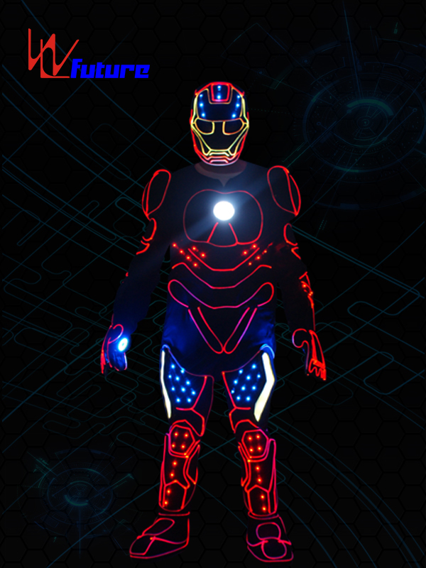 Lowest Price for Dmx512 Costumes Controller - China High Quality Cool Tron Dance Led Iron Man Costume With Led mask – Future Creative