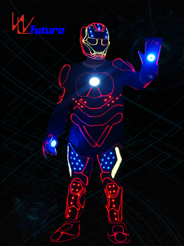 WL Future High Quality LED Tron Dance Suit Iron Man Lights Costumes WL-0239 Featured Image
