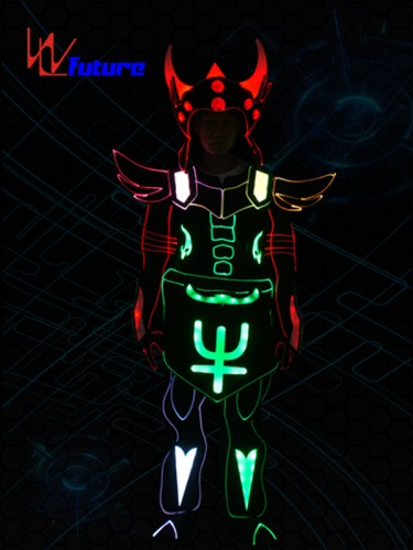 Future Powerful Fiber Optic Horn Glowing Suit Costume WL-0240