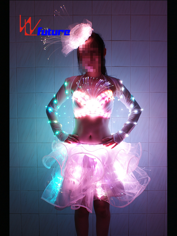 Factory Price Robot Led Costume - Custom Sexy LED Light Up Dress for Pole Dance Show WL-039 – Future Creative